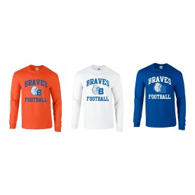 Derby Braves - Football Logo Long Sleeve T-Shirt