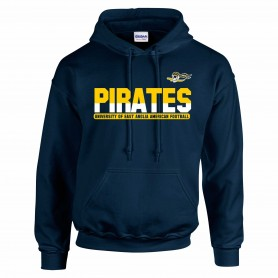 UEA Pirates - Athletic Split Text Logo Hoodie