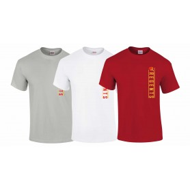 Kings College - Vertical Text Logo T-Shirt