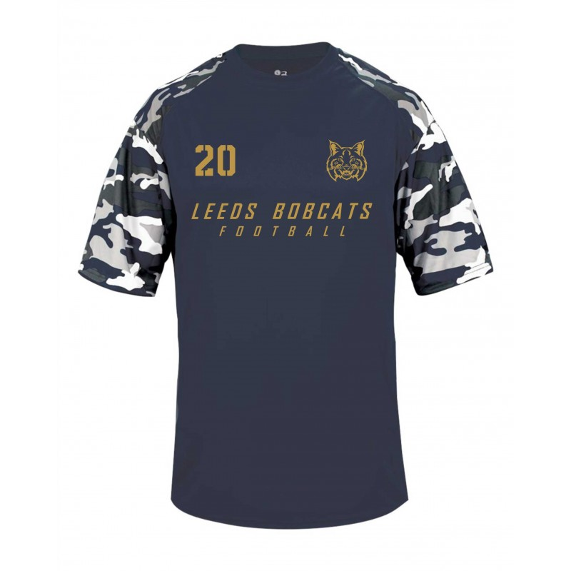 Leeds Bobcats - Printed Camo Performance T Shirt