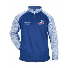 Sussex Thunder - Custom Embroidery Tonal Blend Sport 1/4 Zip