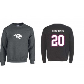 Oxford Brookes Panthers - Jersey Style with Panthers Logo Sweatshirt