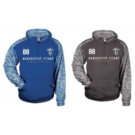 Manchester Titans - Sports Blend Football Logo Hoodie
