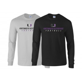 Portsmouth Destroyers -Text Logo Long Sleeve T Shirt