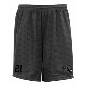 Tamworth Phoenix - Customised Black Logo Embroidered Mesh Shorts