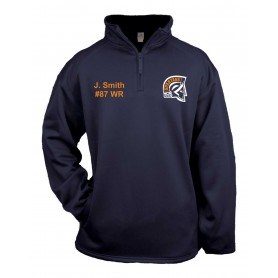 Sunderland Spartans - Embroidered Poly Fleece 1/4 Zip Pullover
