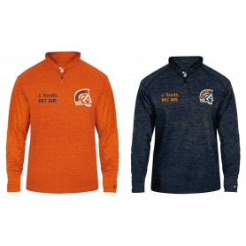 Sunderland Spartans - Embroidered Tonal Blend Sport 1/4 Zip