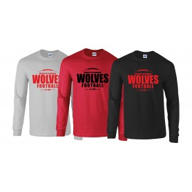 Warwick Wolves - Laces Logo Long Sleeve T Shirt