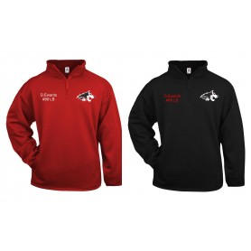 Warwick Wolves - Embroidered 1/4 Zip Poly Fleece Pullover