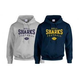 UH Sharks - Custom Ball Logo Hoodie 1