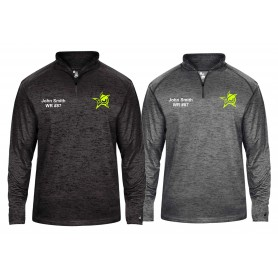 Oldham Owls - Embroidered Tonal Blend Sport 1/4 Zip