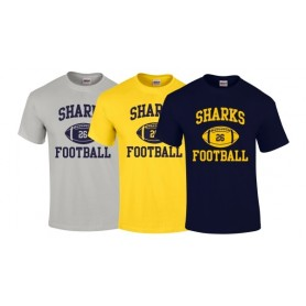 Hull Sharks - Custom Ball Logo T-Shirt 1