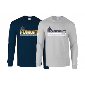 Portsmouth Dreadnoughts - Atheltic Split Text Long Sleeve T Shirt