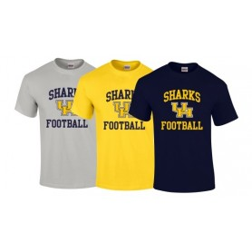 UH Sharks - Football Logo T-Shirt