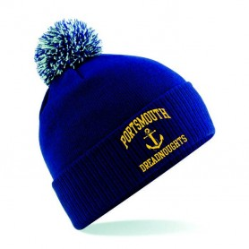 Portsmouth Dreadnoughts - Embroidered Anchor Logo Bobble Hat