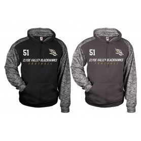 Clyde Valley Blackhawks - Embroidered Sports Blend Text Logo Hoodie