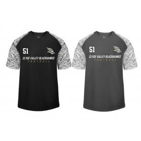 Clyde Valley Blackhawks - Printed Blend Performance Tee