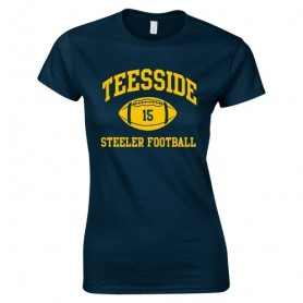 Teeside Steelers - Women's Fit Custom Ball Logo T-Shirt 1