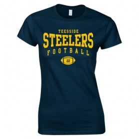 Teeside Steelers - Women's Fit Custom Ball Logo T-Shirt 2