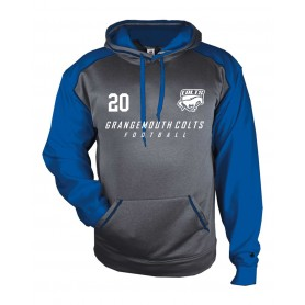 Grangemouth Colts - Colts Printed Heather Tonal Hoodie