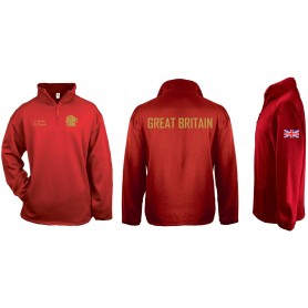 GB Lions Staff and Coaches - Badger 1/4 Zip Poly Fleece Pullover