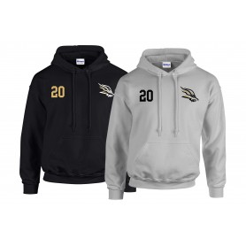 Clyde Valley Blackhawks - Blackhawks Embroidered Number Hoodie