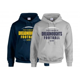 Portsmouth Dreadnoughts - Laces Logo Hoodie