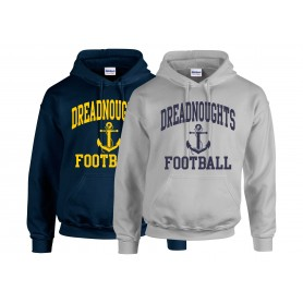 Portsmouth Dreadnoughts - Football Logo Hoodie