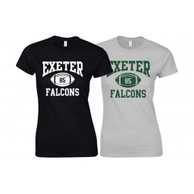 Exeter Falcons - Ladies Fit Custom Ball 1 Logo T-Shirt