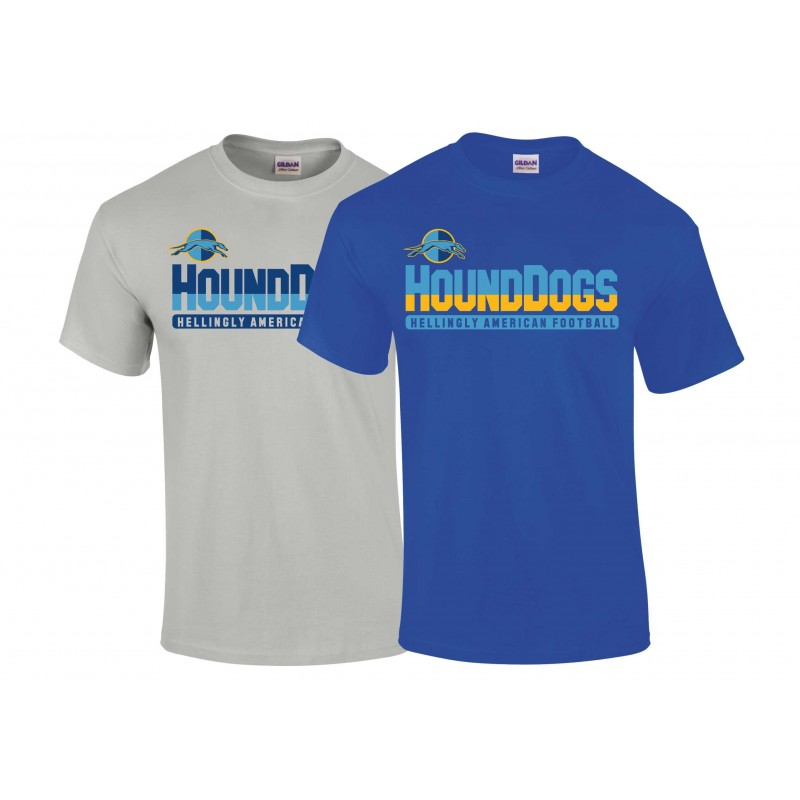 Hellingly Hound Dogs - Athletic Split Text Logo Youth T Shirt