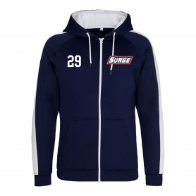 Staffordshire Surge - Embroidered Sports Performance Zip Hoodie