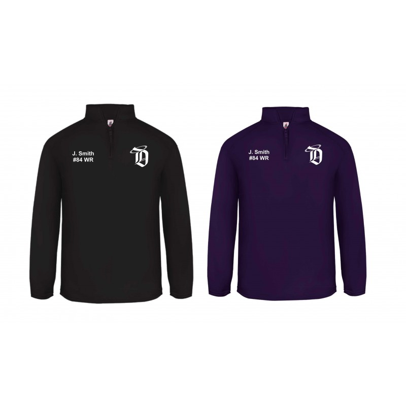 2642754cb Durham Saints - Embroidered 1 4 Zip Poly Fleece Pullover - My Custom ...