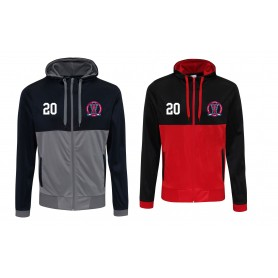 Invicta Junior Ice Hockey Club - Embroidered Retro Track Zip Hoodie