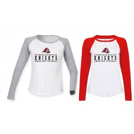 Edinburgh Napier Knights - Womens Raglan Sleeve Contrast T-Shirt