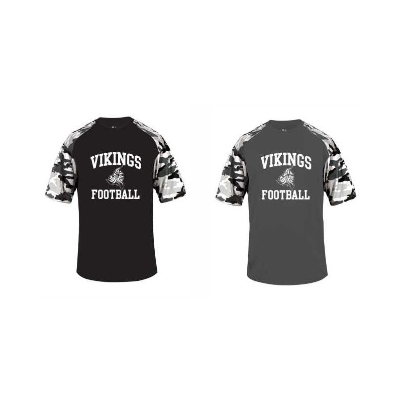 Northumberland Vikings - Printed Camo Performance T Shirt