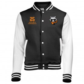 Rugby Raccoons - Embroidered Varsity Jacket