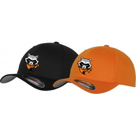 Rugby Raccoons - Embroidered Flex-Fit Cap