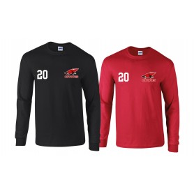 Denain Coyotes  - Printed Logo and Number Long Sleeve T Shirt