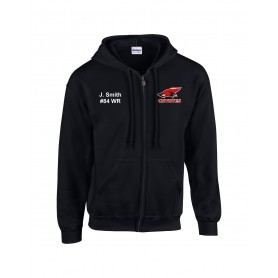Denain Coyotes - Customised Embroidered Zip Hoodie
