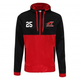 Denain Coyotes - Embroidered Retro Track Zip Hoodie