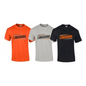 Lincolnshire Longhorns - Athletic Split Text Logo T-Shirt