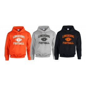 Lincolnshire Longhorns - Custom Ball Logo Hoodie 1