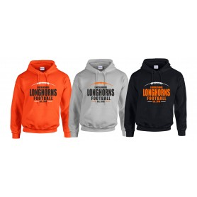 Lincolnshire Longhorns - Custom Ball Logo Hoodie 2