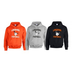 Lincolnshire Longhorns - Slanted Text Logo Hoodie