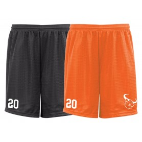 Lincolnshire Longhorns - Embroidered Mesh Shorts