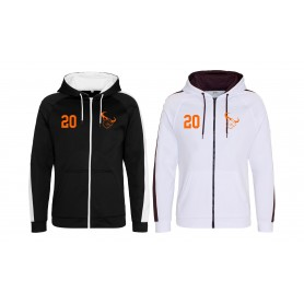 Lincolnshire Longhorns - Embroidered Sports Performance Zip Hoodie