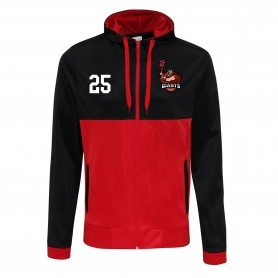 North East Giants - Embroidered Retro Track Zip Hoodie