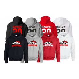 Aschaffenburg Stallions - Full Logo With Name And Number Hoodie