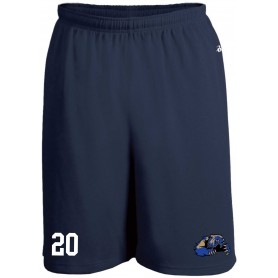 Heriot Watt Wolverines - Customised Or Non Customised Embroidered Money Mesh Pocket Shorts