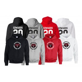 Bradford Bears - Full Logo With Name And Number Hoodie